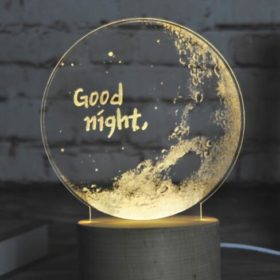 Creative Table Lamp for Home or Office Good Night