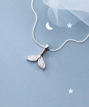 Mermaid Tail Sterling Silver Necklace