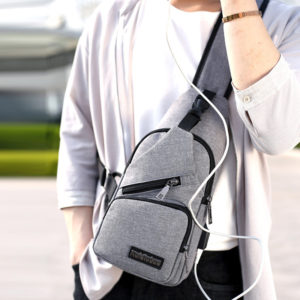Korean Cross Shoulder Bag with USB Port