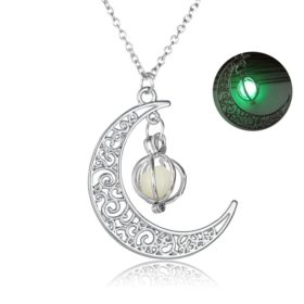 Crescent Moon Glowing Necklace