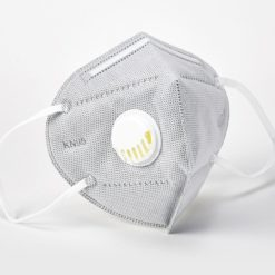 Gray KN95 Respirator Face Mask with Exhalation Valve Filter