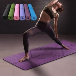 """TPE Eco-Friendly Yoga Mat 1:4"""" Thick Non-slip Waterproof with Alignment Lines_Featured"""
