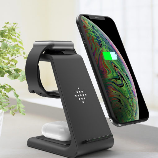 3-in-1 Fast Wireless Charging Station for iPhone, Samsung, Airpod, and Apple Watch
