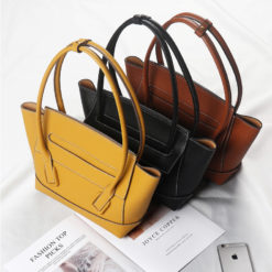 Contemporary Crossbow Tote Shoulder Leather Bag