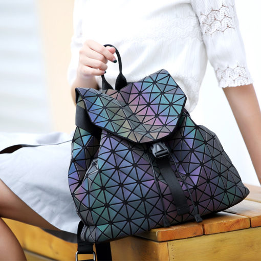 Holographic Glow in the Dark Fashion Mini Backpack for Women