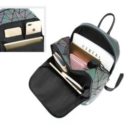 Holographic Glow in the Dark Fashionable Backpack for Women