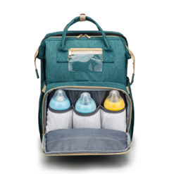 Mommy Diaper Bag Backpack with Foldable Bed