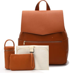 Mommy Diaper Leather Bag Backpack