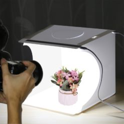 Tragbare Photography Studio Light Box mit LED-Panels und 6 Farbhintergründen