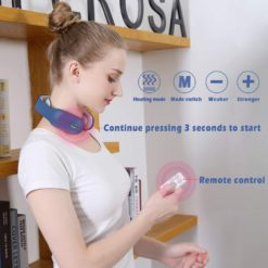 Smart Neck Massager with Pulse Heated Therapy and Remote Control