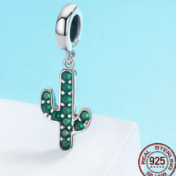 Sterling Silver Cactus Beaded Pendant