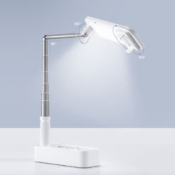 Portable Phone Holder Stand with Dimmable LED Fill Light and Remote Control