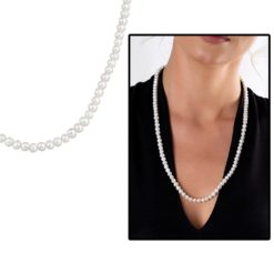Women's Natural Pearl 925 Carat Silver Necklace